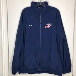 Nike USA Windbreaker Jacket Blue Size Large